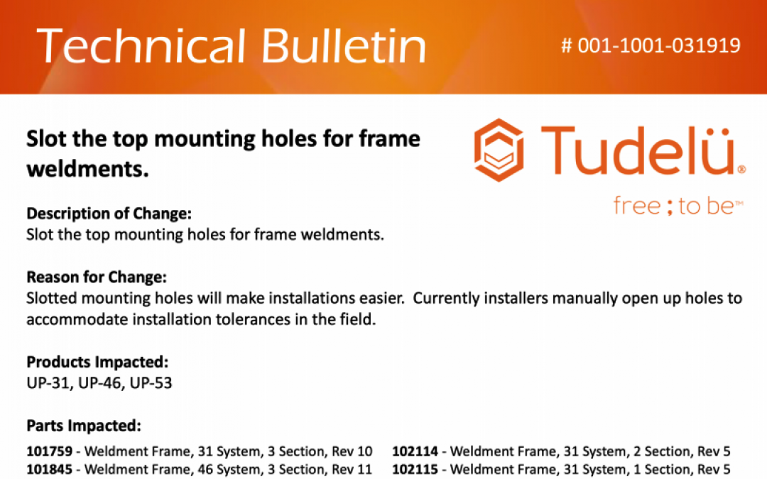 Technical Bulletin – 001